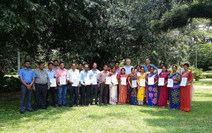Around 25 local extension officers, farmers and growers in Peradeniya obtained their certificate integrated pest management, sustainable crop protection and food safety